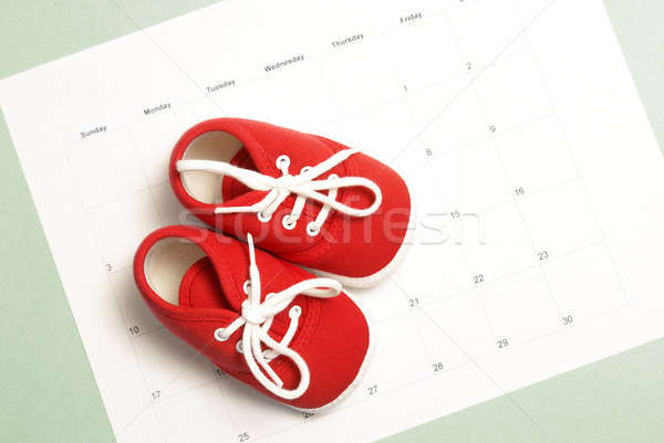 Paire mensuellement calendrier beaucoup Photo stock © AlphaBaby