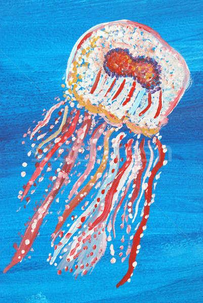 Jellyfish Painting Stock photo © AlphaBaby