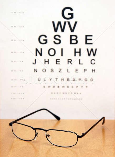 Examen de la vue graphique floue paire modernes oeil Photo stock © AlphaBaby