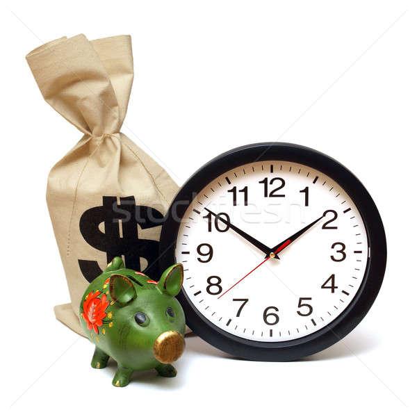 Il tempo è denaro pochi clock banca bag mercato Foto d'archivio © AlphaBaby