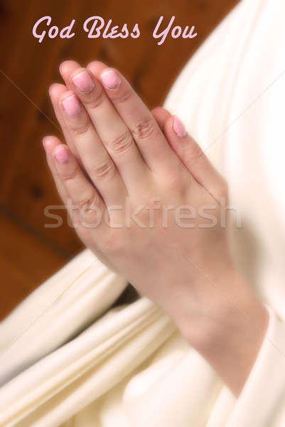 Preghiera mani insieme padre cielo Foto d'archivio © AlphaBaby