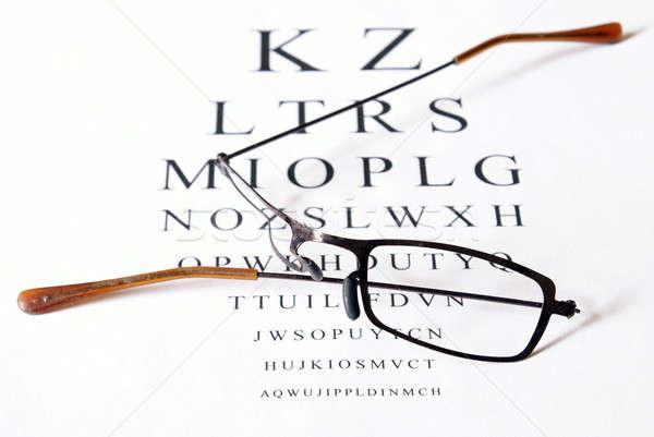 Daño gafas examen de la vista roto sesión Foto stock © AlphaBaby
