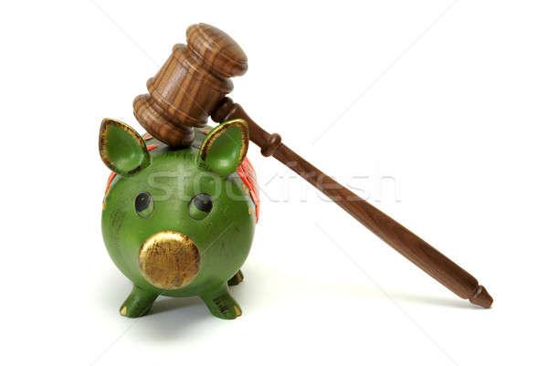 Jurídica gastos cerdo banco conceptos Foto stock © AlphaBaby