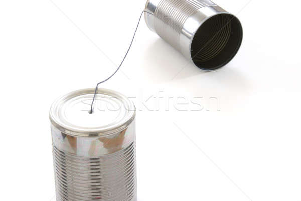 Tin Can Telephone Stock photo © AlphaBaby