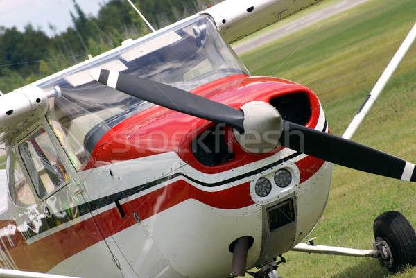 Vliegtuig klein motor technologie bomen vliegtuig Stockfoto © AlphaBaby