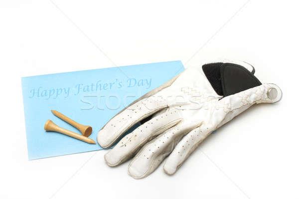 Gelukkige vadersdag kaart vader golf brief geschenk Stockfoto © AlphaBaby