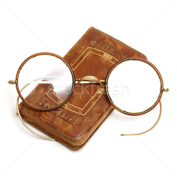 アンティーク 図書 眼鏡 孤立した ショット 古い ストックフォト © AlphaBaby