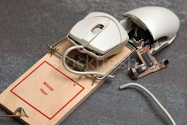コンピューターのマウス 写真 トラップ 与える 考え ストックフォト © AlphaBaby