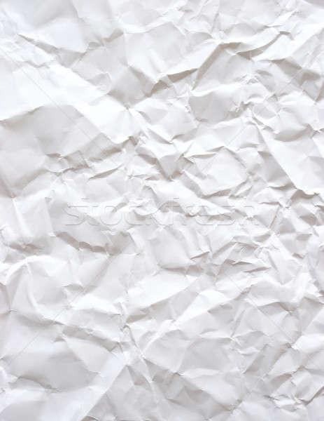 Ráncos papír darab fehér iroda iskola Stock fotó © AlphaBaby