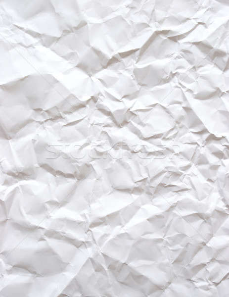 Buruşuk kâğıt parça beyaz ofis okul Stok fotoğraf © AlphaBaby