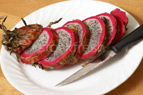 Sliced Dragonfruit Stock photo © AlphaBaby