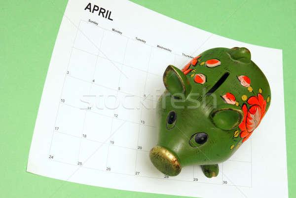 Fiscali tempo suino banca calendario stagione Foto d'archivio © AlphaBaby