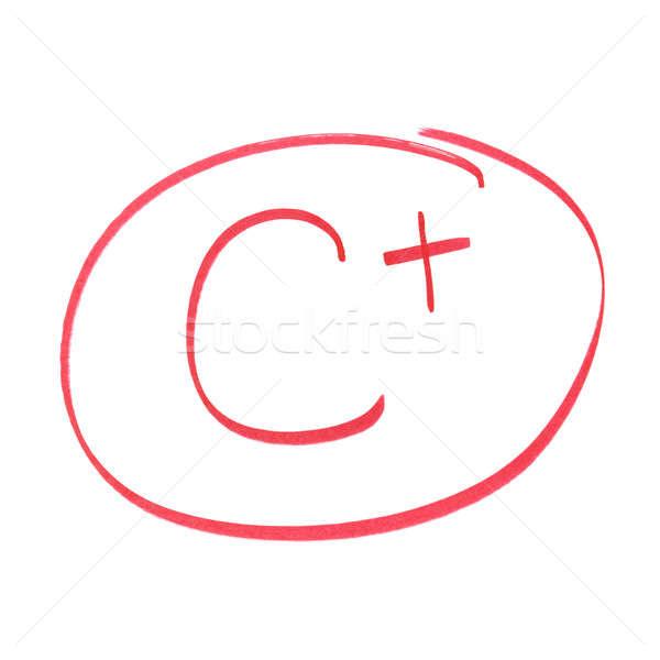 C Plus Grade Stock photo © AlphaBaby