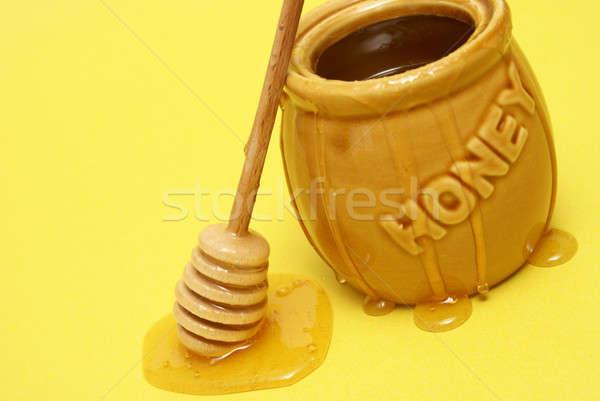 Messy Honey Jar Stock photo © AlphaBaby