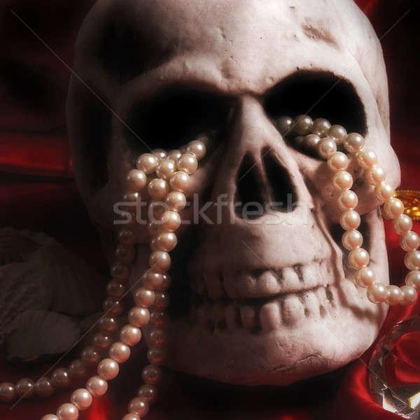 Crânio tesouro velho humanismo caro ouro Foto stock © AlphaBaby