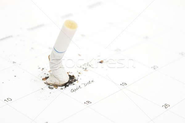 喫煙 リマインダー カレンダー 日付 健康 目標 ストックフォト © AlphaBaby
