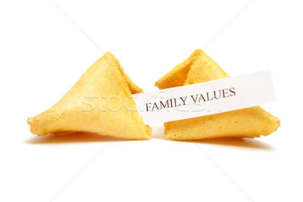 Fortune Cookie of Family Values Stock photo © AlphaBaby