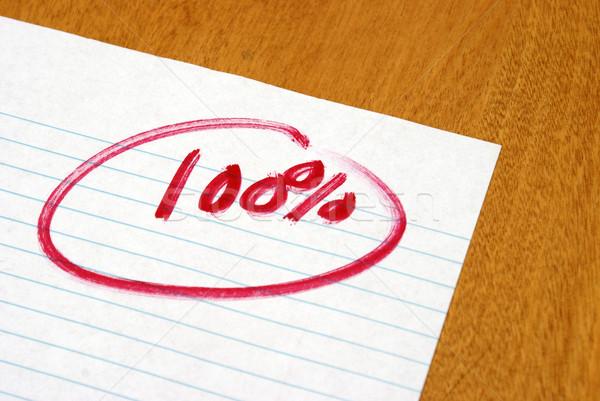 Stock foto: Hundert · Prozent · ausgezeichnet · Test · führen · groß
