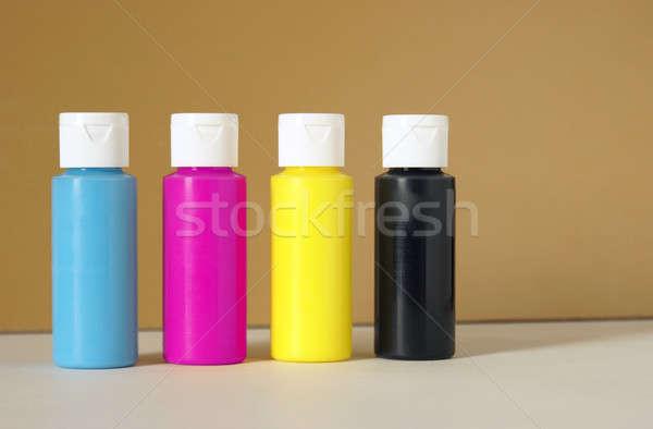 Vernice accurata colore arte blu stampa Foto d'archivio © AlphaBaby