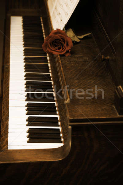 Vintage Piano Stock photo © AlphaBaby