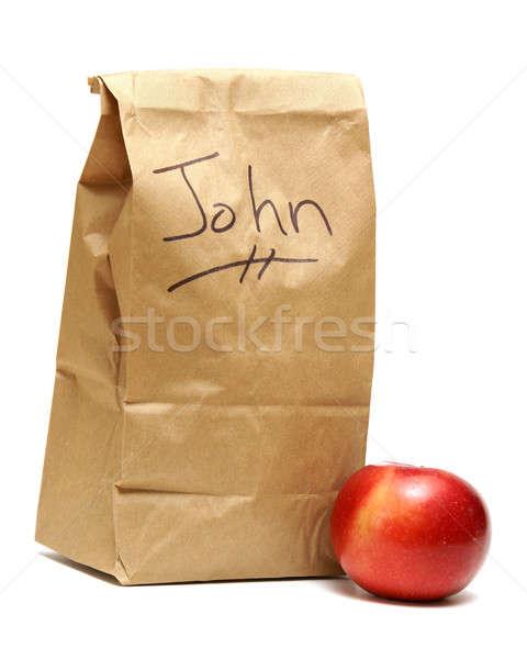 Lunch bruin zakken bereid papier kinderen Stockfoto © AlphaBaby