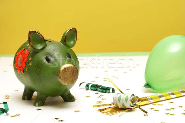 Banco vacaciones cerdo día negocios Foto stock © AlphaBaby