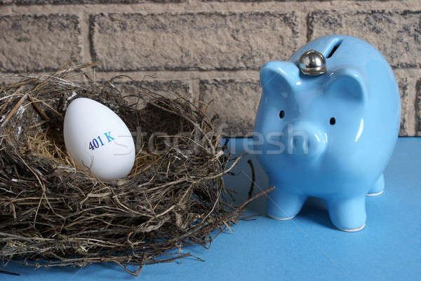 Pensioen nest afbeelding ei bereid veiligheid Stockfoto © AlphaBaby