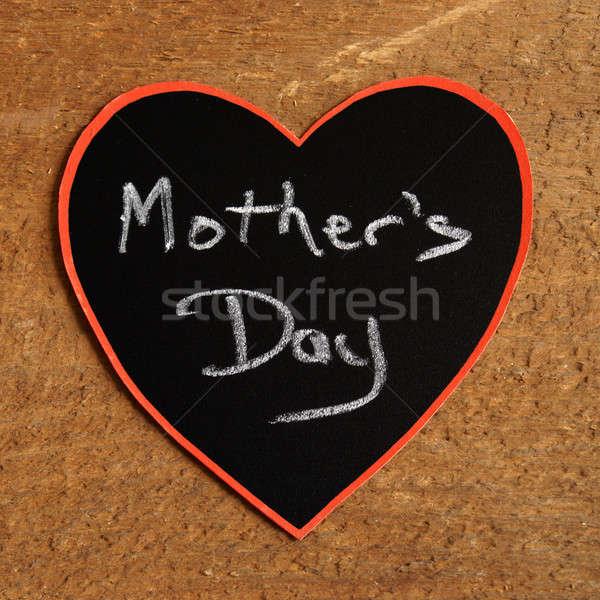 Moeders dag aankondiging hart familie frame Stockfoto © AlphaBaby