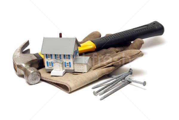 Carpintaria indústria da construção poucos negócio edifício trabalhar Foto stock © AlphaBaby