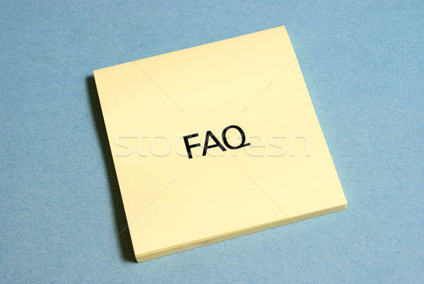 Frequently Asked Questions Stock photo © AlphaBaby
