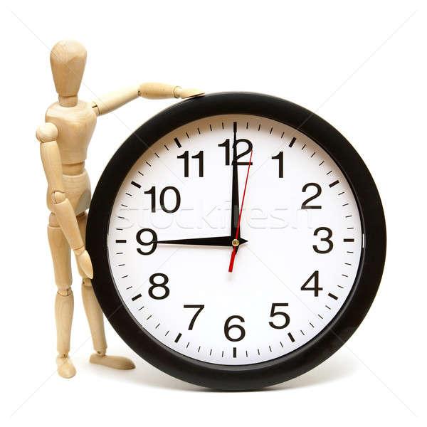 Időbeosztás próbababa óra izolált fehér üzlet Stock fotó © AlphaBaby