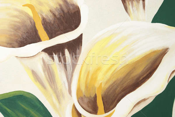 Calla Lilies Painting Stock photo © AlphaBaby