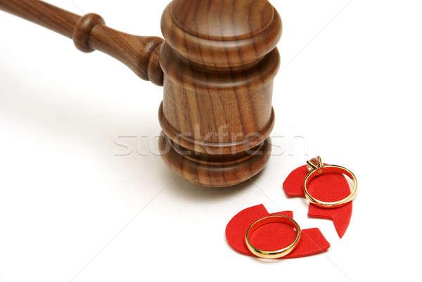 法的 離婚 愛 法 金 リング ストックフォト © AlphaBaby