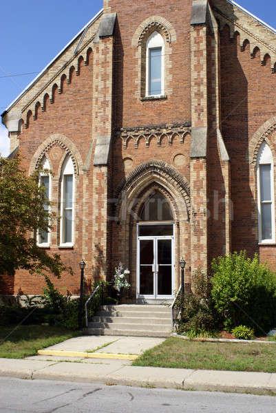 Kirche Eingang Bild schönen Gebäude Stock foto © AlphaBaby