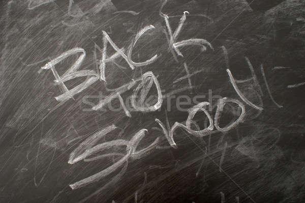 De volta à escola escrito quadro-negro fundo de volta faculdade Foto stock © AlphaBaby