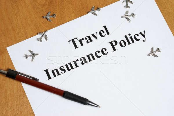 Voyage assurance paix esprit acheter affaires Photo stock © AlphaBaby
