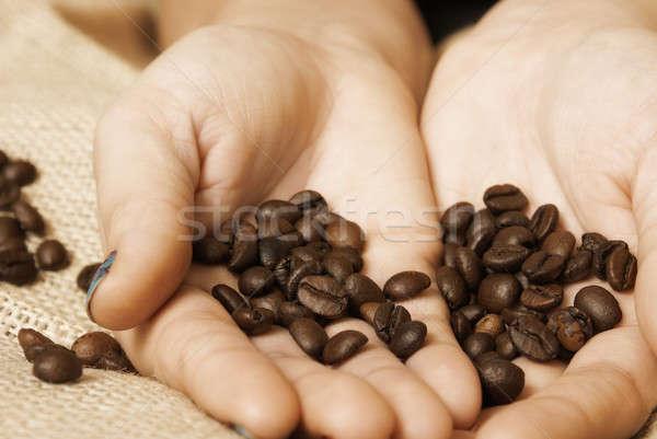 Kávé importáru mutat vevő élvezetes főzet Stock fotó © AlphaBaby