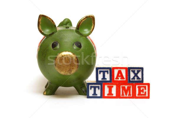 Fiscali tempo suino banca blocchi ricordare Foto d'archivio © AlphaBaby