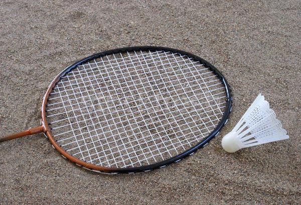 Praia badminton equipamento areia esportes saúde Foto stock © AlphaBaby