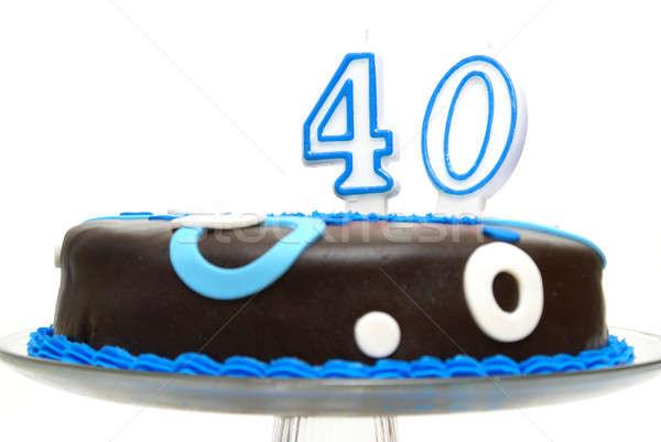 Grande 40 pastel de cumpleanos alguien feliz cumpleanos Foto stock © AlphaBaby