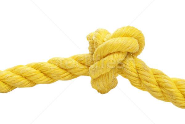 Düğüm halat sarı beyaz kravat Stok fotoğraf © AlphaBaby