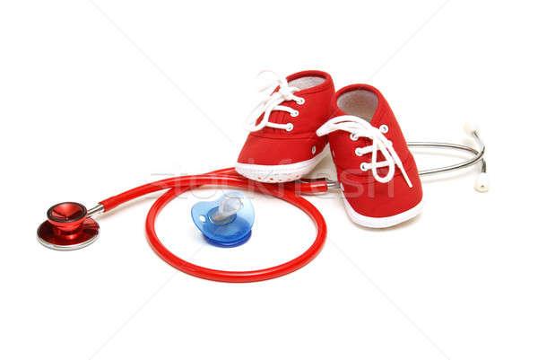 Pediatria odizolowany shot obiektów zawód opieki zdrowotnej Zdjęcia stock © AlphaBaby