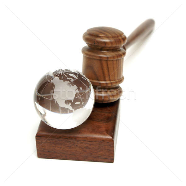 Globe and Gavel Stock photo © AlphaBaby