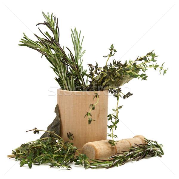 Otthon jóvátétel együtt néhány gyógynövények fa Stock fotó © AlphaBaby