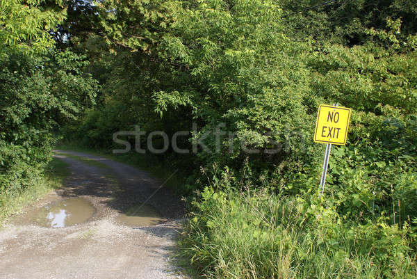 No Exit Roadway Stock photo © AlphaBaby