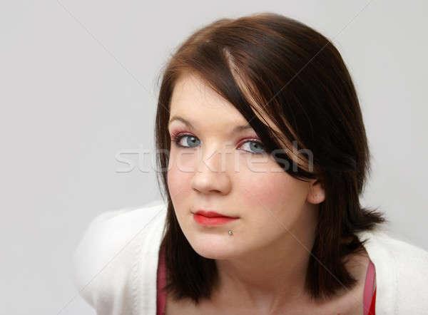 Portret meisje jonge meisjes shot haren Stockfoto © AlphaBaby