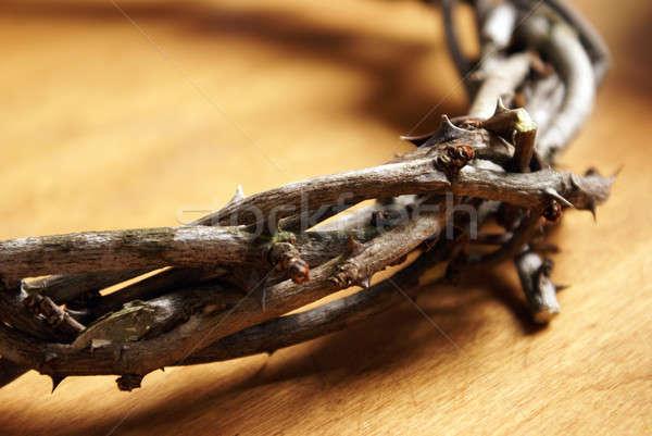 Coroa ver feito à mão topo Foto stock © AlphaBaby