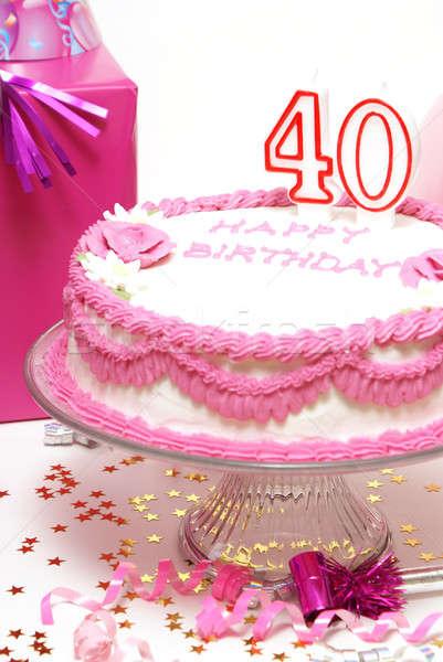 Happy 40th Birthday Stock photo © AlphaBaby