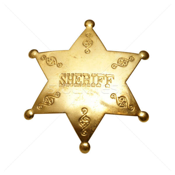Sheriff Badge Stock photo © AlphaBaby