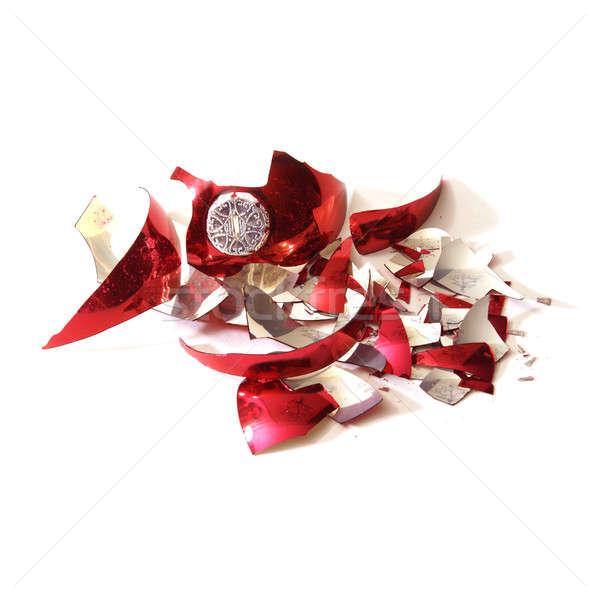 Broken Christmas Bauble Stock photo © AlphaBaby